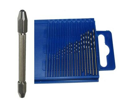 Rdgtools 20Pc Micro Drill Set & Pin Vice 0.3 - 1.6Mm Metric