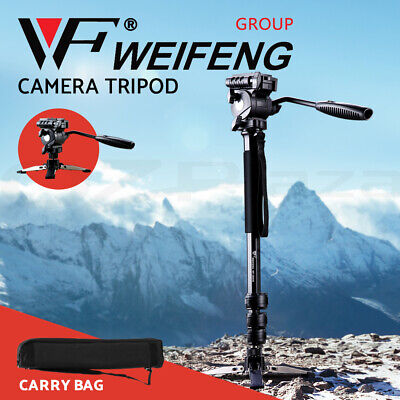 Camera Monopod Tripod Unipod Fluid Head Holder Travel DSLR Camcorder Video DV