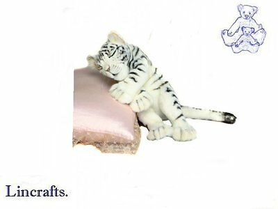 Hansa Sleeping White Tiger Cub 4798 Soft Toy Sold by Lincrafts Established 1993