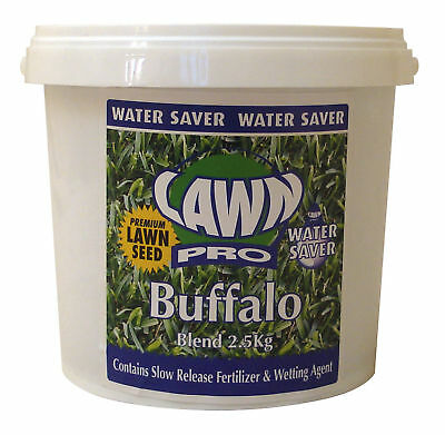 Lawn Pro Buffalo Lawn Seed Turf Water Saver For Your Garden 2.5Kg Covers 250sqm