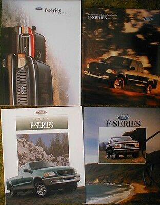 1992 - 1999 Ford F-Series Pickup Brochures  93 94 95