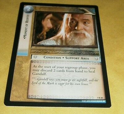 Lotr Tcg Rotk Rare Card - 7R44 Moment Of Respite