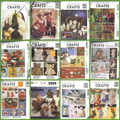 OOP McCalls Sewing Pattern Christmas Holiday McCall's Crafts XMAS Decorations