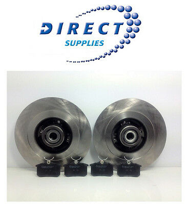 Renault Scenic Mk2 Rear Brake Discs And Pads With Abs Bearing - Oe Quality