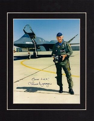 Chuck Yeager Pilot Signed Photo Reprint Matted