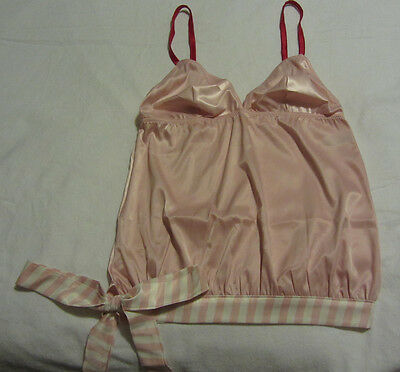 New Victoria's Secret Sexy Pink And White With Candy Cane Stripe Camisole Size M