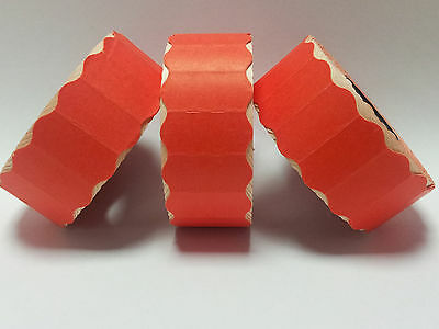 Motex 2612 - 15,000 Red Permanent Price Gun Pricing Labels - CT4 26 x 12mm