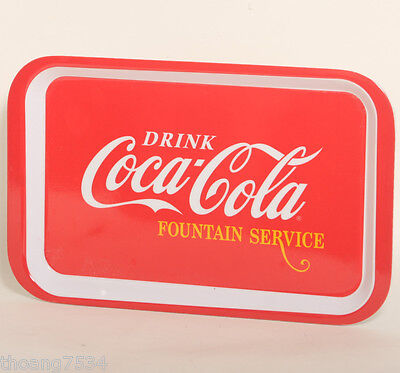 "NEW Red Classic COCA COLA Drink 10"" Plastic Melacore Rectangular SERVING TRAY"