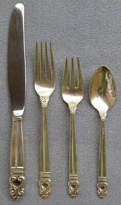 International Sterling Silver Royal Danish Flatware 4 Piece Place Settings