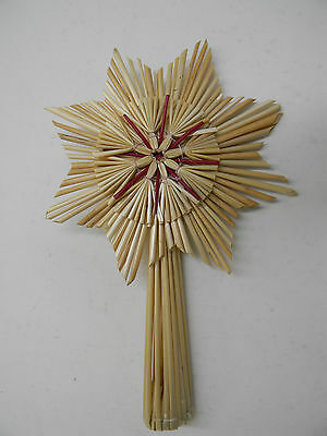 Scandinavian Swedish Straw Christmas Tree Top Star #863