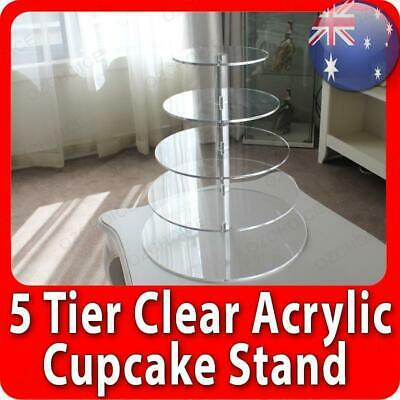 4 Tier Cupcake Cup Cake Stand Display Maypole Round Clear Acrylic Wedding Party