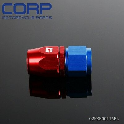 AN8 AN-8  8 AN  Straight Fuel Swivel Fitting Hose End Adaptor BL