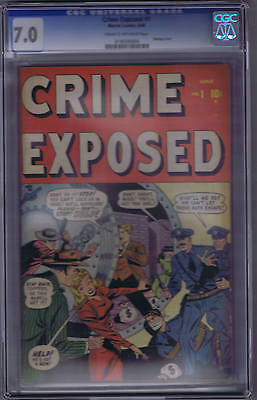 Crime Exposed #1 Timely  1948 CGC 7.0 (FINE/VERY FINE)