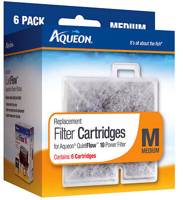 Aqueon Filter Cartridge Medium. For Quiet Flow 10 Filter. 6Pk