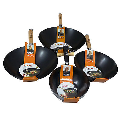 High Quality Ken Hom TopBon Coating Non-Stick Stir Fry Wok Pan 4 Sizes