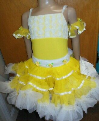 NWT BUTTERCUP YELLOW Dance COSTUME leotard & Pettiskirt Pageant small child