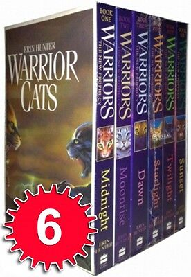 Erin Hunter Warrior Cats 6 Books Collection Set - The New Prophecy Series