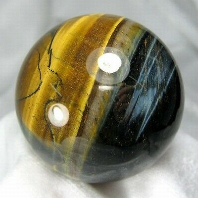 47mm Natural Gold & Blue Tiger Eye Crystal Sphere/Ball-tes50ie0218