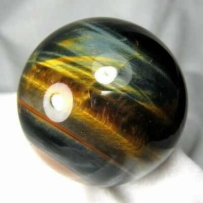 52mm Natural Gold & Blue Tiger Eye Crystal Sphere/Ball-tes52ie0236