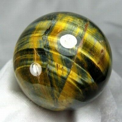 51.5mm Natural Gold & Blue Tiger Eye Crystal Sphere/Ball-tes55ie0211