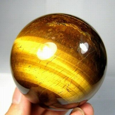 57mm Natural Gold Tiger Eye Crystal Sphere/Ball-tes57ie0185