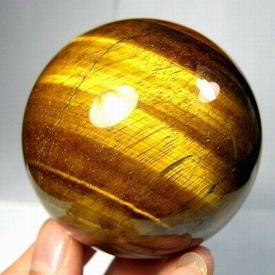 61mm Natural Gold Tiger Eye Crystal Sphere/Ball-tes61ie0200