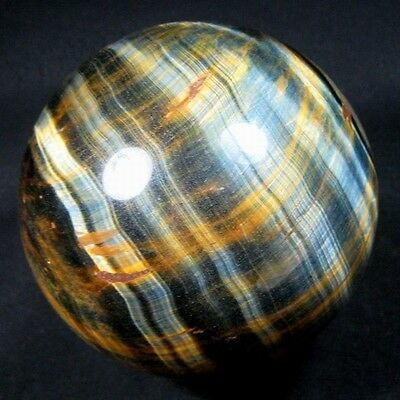 80mm Natural Gold & Blue Tiger Eye Crystal Sphere/Ball-tes80ie0390