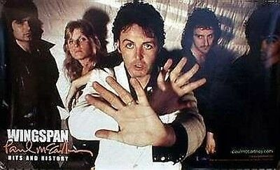 PAUL MCCARTNEY 2001 Wingspan Promotional Poster MINT Condition NEW Old Stock
