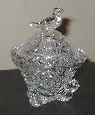 Hofbauer Crystal BYRDES Clear Small Footed Covered Trinket Box(es)