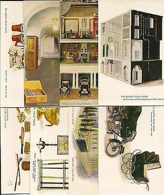 CHILDREN : The Queen's Dolls House series VI set of eight cards-Oilette-BEE