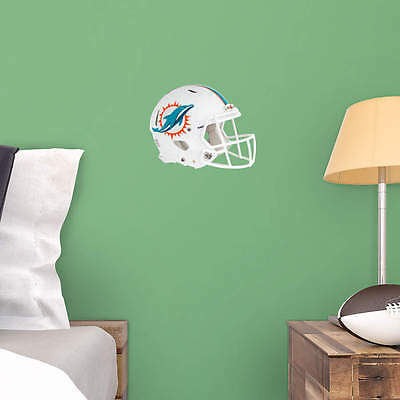 """New MIAMI DOLPHINS Helmet NFL Fathead / Poster Wall Graphics 11"""" W x 9"""" H"""