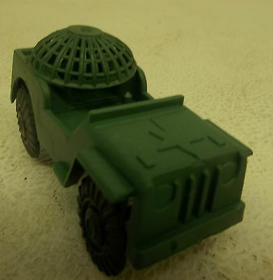 Vintage Early 1960s Made in China Plastic Green Army Men Jeep Truck