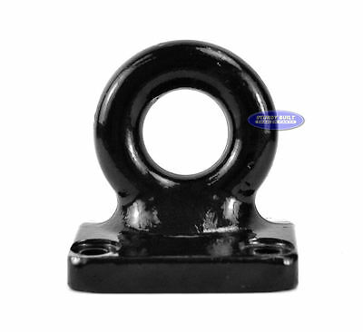 "Trailer Pintle Lunette Eye Military Tow Ring 3"" Flat 4 Hole Mount 60,000 lbs Cap"