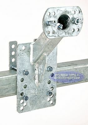 Trailer Spare Tire Carrier Galvanized Up & Away Holder for 4, 5 or 6 Bolt Wheels