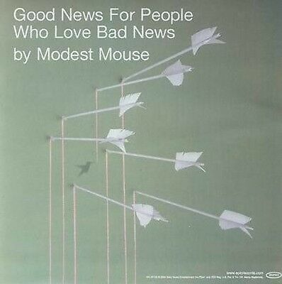 MODEST MOUSE 2004 good news for bad people BIG promo cling sticker NEW old stock