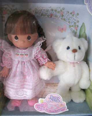 1998 Precious Moments Bonnie My Beary Best Friend Doll #11000 NRFB with Snowball