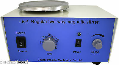 JB-1 BiDirectional Magnetic Stirrer with Timer 0-2600 RPM Two-Way Rotation 25W