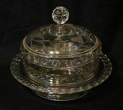 Ripley & Co. Dakota Engraved Covered Butter Dish