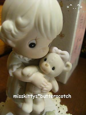 Precious Moments~PM932~LOVING~Little Girl Hugging Her TEDDY BEAR~Turtle~trumpet