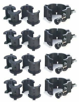 4 CHAUVET CLP-10 360° Wrap Around O-Clamps Truss Light Mounting - 75 lb Capacity