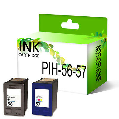 Remanufactured Generic Ink Cartridges 56 & 57 Replace For Deskjet Printer