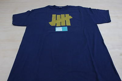 Vintage Undftd 5-Strikes Navy Gold Tee Shirt Large L Box Logo Undefeated 1a5de972192a