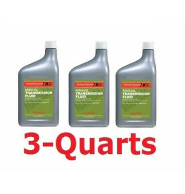 3-Quarts Genuine Honda Manual Transmission Fluid Acura NEW