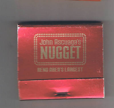 John Ascuaga's Nugget Casino Best Of Everything Red Unused Matchbook Sparks Nv