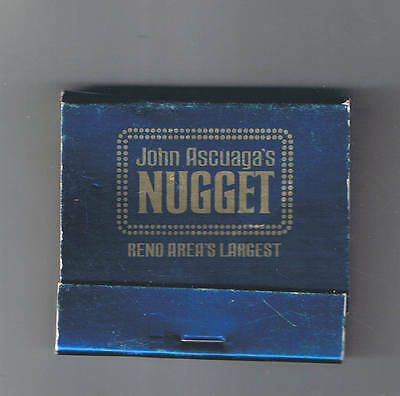John Ascuaga's Nugget Casino Best Of Everything Blue Unused Matchbook Sparks Nv