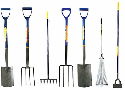 Border Digging Garden Spade Shovel Fork Dutch Hoe Adjustable Leaf Rake Steel New