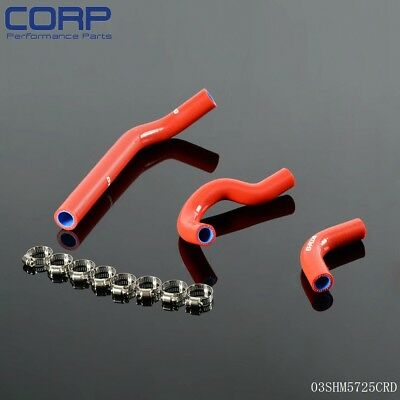 Silicone Coolant Radiator Hose Kit For Honda CRF250R CRF 250 CRF250X 04-09 RED