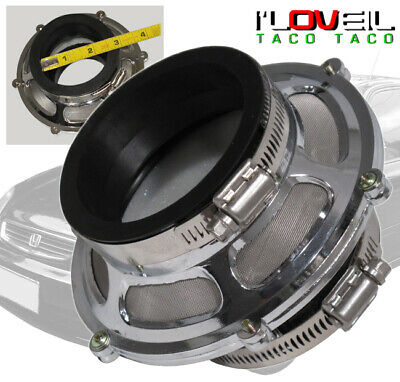 """2.75"""" 70mm Racing Cold Air Intake Bypass Valve Filter HydroLock Silver For Dodge"""