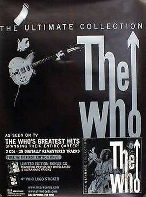 THE WHO 2002 ultimate collection promotional poster New Old Stock Mint Condition