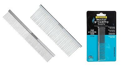 Chrome Plated Steel Greyhound Combs for Dog Grooming - Comb Sets Available too !